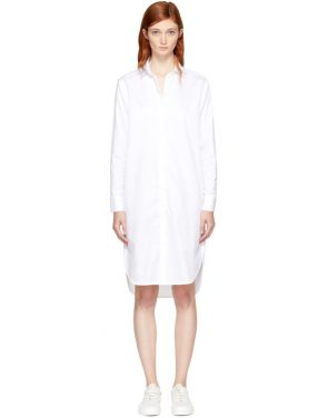 photo White Gabrielle Shirt Dress by Won Hundred - Image 1
