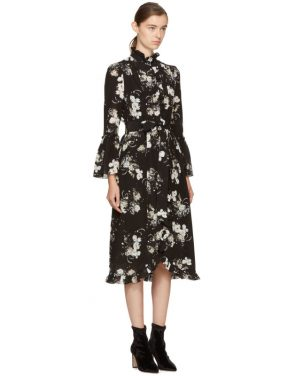 photo Black and Ecru Siren Dress by Erdem - Image 2