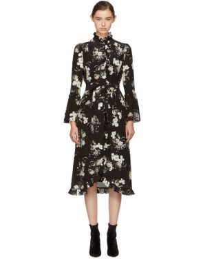 photo Black and Ecru Siren Dress by Erdem - Image 1