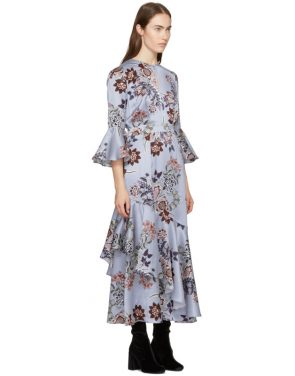 photo Blue Florence Dress by Erdem - Image 2