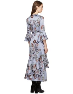 photo Blue Florence Dress by Erdem - Image 3