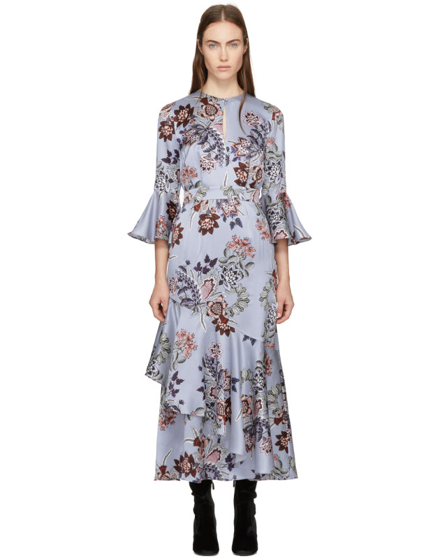 photo Blue Florence Dress by Erdem - Image 1