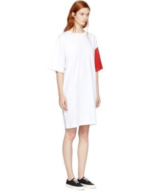 photo White and Red California Club Tee Dress by SJYP - Image 2