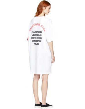 photo White and Red California Club Tee Dress by SJYP - Image 3