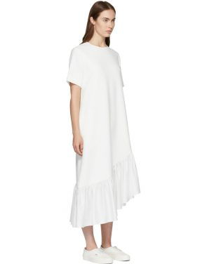 photo White Asymmetric Oversized Peplum Dress by Edit - Image 2