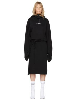 photo Black Hoodie Wrap Dress by Vetements - Image 1
