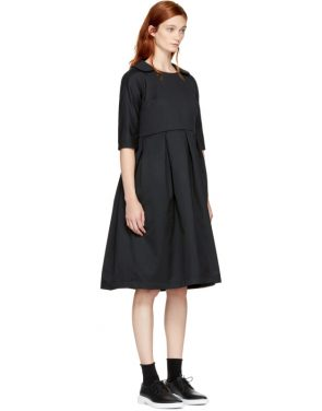 photo Black Padded Collared Dress by Comme des Garcons Comme des Garcons - Image 2