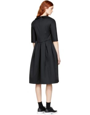 photo Black Padded Collared Dress by Comme des Garcons Comme des Garcons - Image 3
