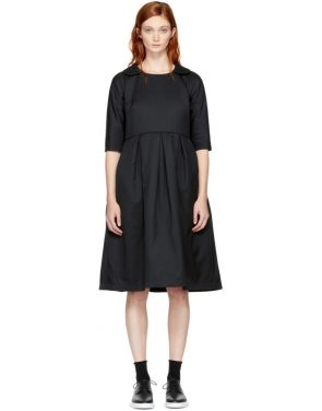 photo Black Padded Collared Dress by Comme des Garcons Comme des Garcons - Image 1