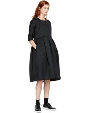 photo Black Padded Collared Dress by Comme des Garcons Comme des Garcons - Image 4