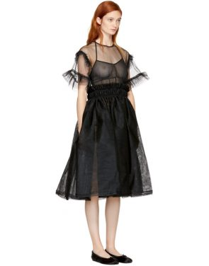 photo Black Tulle Dress by Noir Kei Ninomiya - Image 2