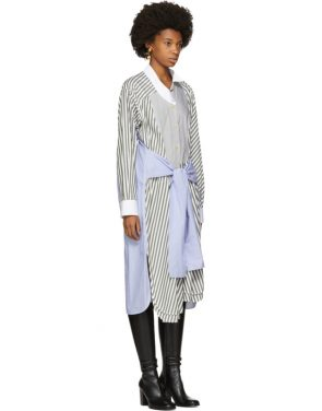 photo Tricolor Striped Shirt Dress by Loewe - Image 2