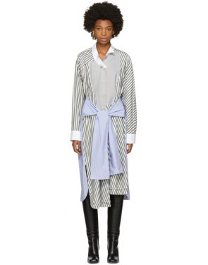 photo Tricolor Striped Shirt Dress by Loewe - Image 1