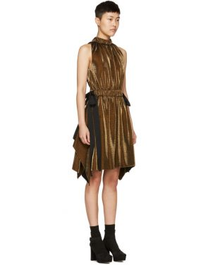photo Gold Lurex Bows Halter Dress by Fendi - Image 2