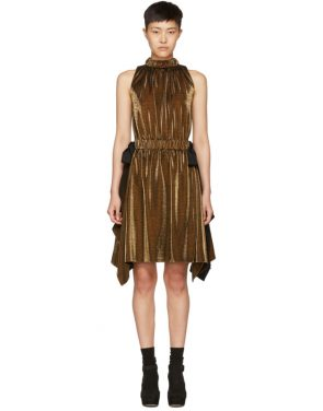 photo Gold Lurex Bows Halter Dress by Fendi - Image 1