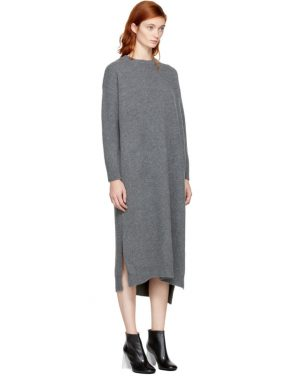 photo Grey Wool Straight Dress by Enfold - Image 2