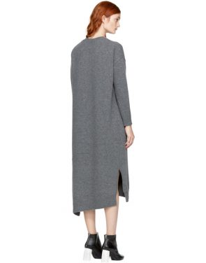 photo Grey Wool Straight Dress by Enfold - Image 3