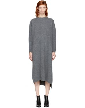 photo Grey Wool Straight Dress by Enfold - Image 1