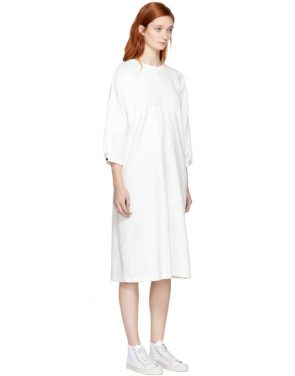 photo White Wide Dress by Blue Blue Japan - Image 2