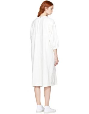 photo White Wide Dress by Blue Blue Japan - Image 3