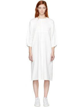 photo White Wide Dress by Blue Blue Japan - Image 1