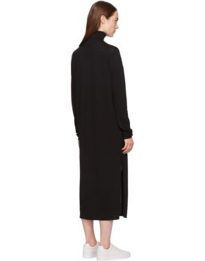 photo Black Cabrol Turtleneck Dress by Toteme - Image 3