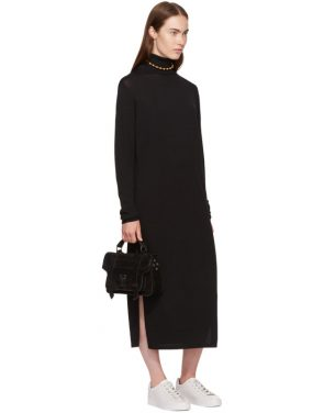 photo Black Cabrol Turtleneck Dress by Toteme - Image 4