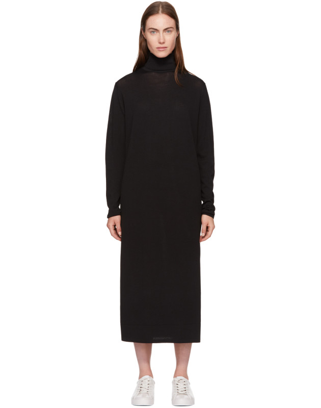 photo Black Cabrol Turtleneck Dress by Toteme - Image 1