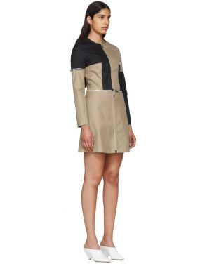 photo Beige and Black Zip Dress by Courreges - Image 2