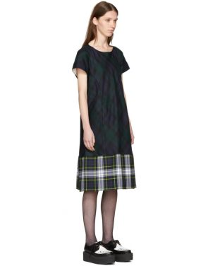 photo Green and Navy Tartan Check Dress by Tricot Comme des Garcons - Image 2