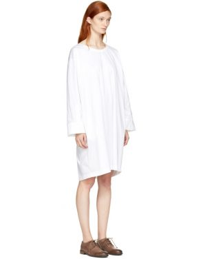 photo White Deron T-Shirt Dress by Nehera - Image 2