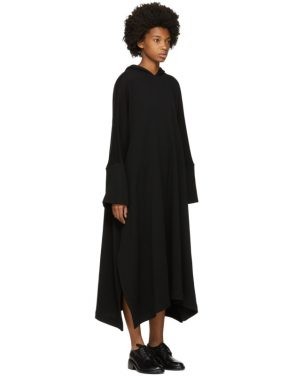 photo Black Fleece Hooded Dress by Nocturne 22 - Image 2
