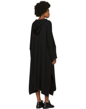 photo Black Fleece Hooded Dress by Nocturne 22 - Image 3
