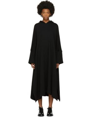 photo Black Fleece Hooded Dress by Nocturne 22 - Image 1
