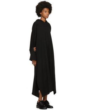photo Black Fleece Hooded Dress by Nocturne 22 - Image 4