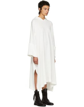photo Off-White Fleece Hooded Dress by Nocturne 22 - Image 2
