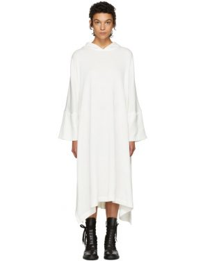 photo Off-White Fleece Hooded Dress by Nocturne 22 - Image 1