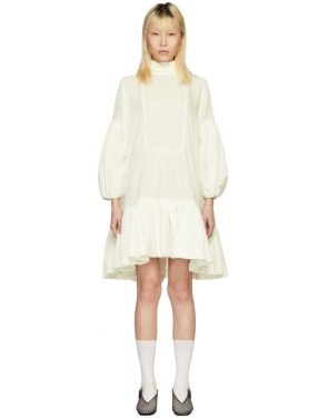 photo White Velvet Belle Dress by Cecilie Bahnsen - Image 1