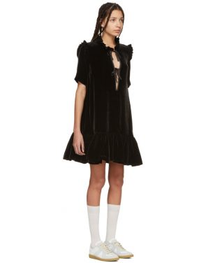 photo Black Velvet Natalia Dress by Cecilie Bahnsen - Image 2