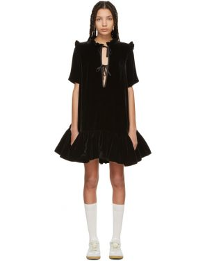 photo Black Velvet Natalia Dress by Cecilie Bahnsen - Image 1