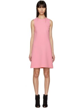 photo Pink A-Line Buttons Dress by Dolce and Gabbana - Image 1