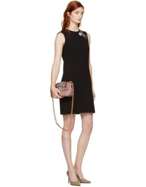 photo Black Crepe A-Line Dress by Dolce and Gabbana - Image 4