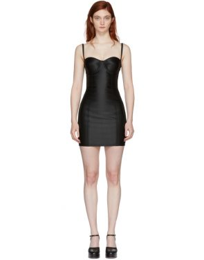 photo Black Sateen Bustier Dress by Dolce and Gabbana - Image 1