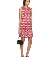 photo Pink A-Line Logo Amore Energy Dress by Dolce and Gabbana - Image 5