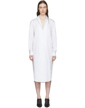 photo White Tamise Shirt Dress by Olivier Theyskens - Image 1