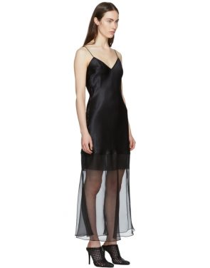 photo Black Fitted Tessil Midi Dress by Olivier Theyskens - Image 2
