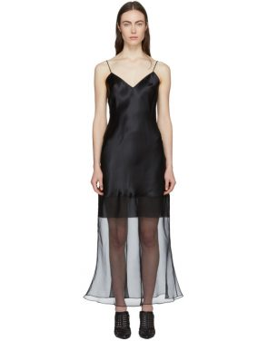 photo Black Fitted Tessil Midi Dress by Olivier Theyskens - Image 1