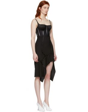 photo Black Silk Deconstructed Corset Dress by Olivier Theyskens - Image 2