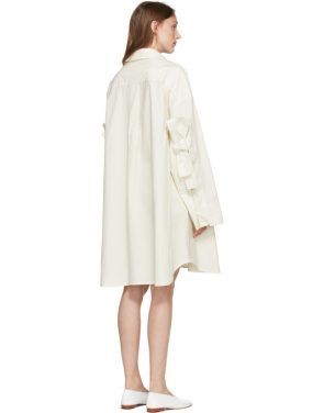 photo Off-White Bow Shirt Dress by Roberts | Wood - Image 3