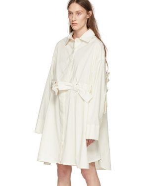 photo Off-White Bow Shirt Dress by Roberts | Wood - Image 4